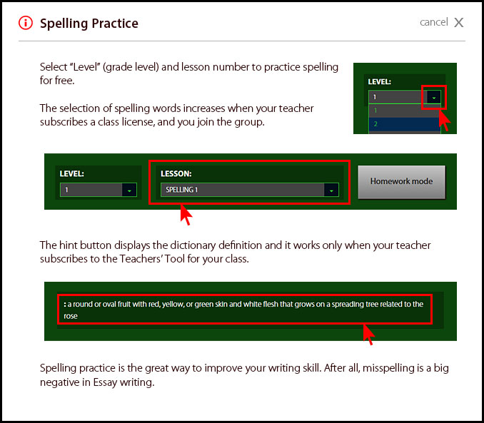 About Spelling Practice