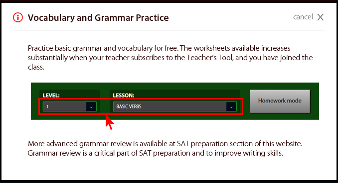 About Vocabulary and Grammar Practice